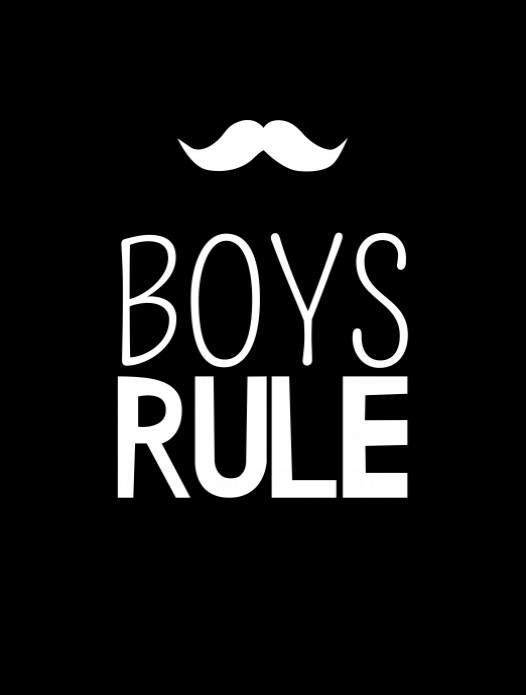 Black and White - Boys Rule voor