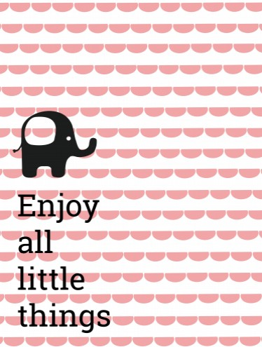 Poster Enjoy all little things voor