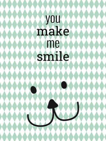 Poster You Make Me Smile voor