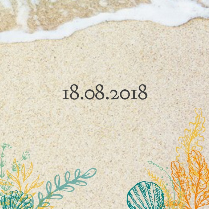 Save the date beach - We said yes voor