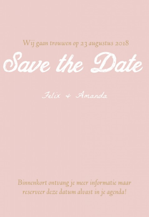 Save the date - Flowers achter