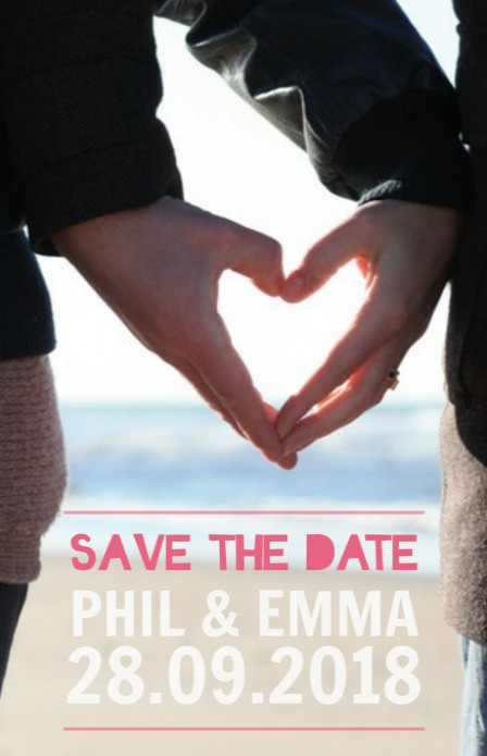 Save the date - Fotokaart voor