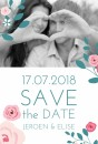 Save the date - Flowers white voor