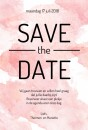 Save the date kaart - Watercolor Love voor
