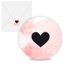 Sluitsticker Watercolor love