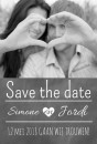 Stoere Save the date kaart - Chalkboard and love voor