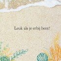Trouwkaart beach - We said yes voor